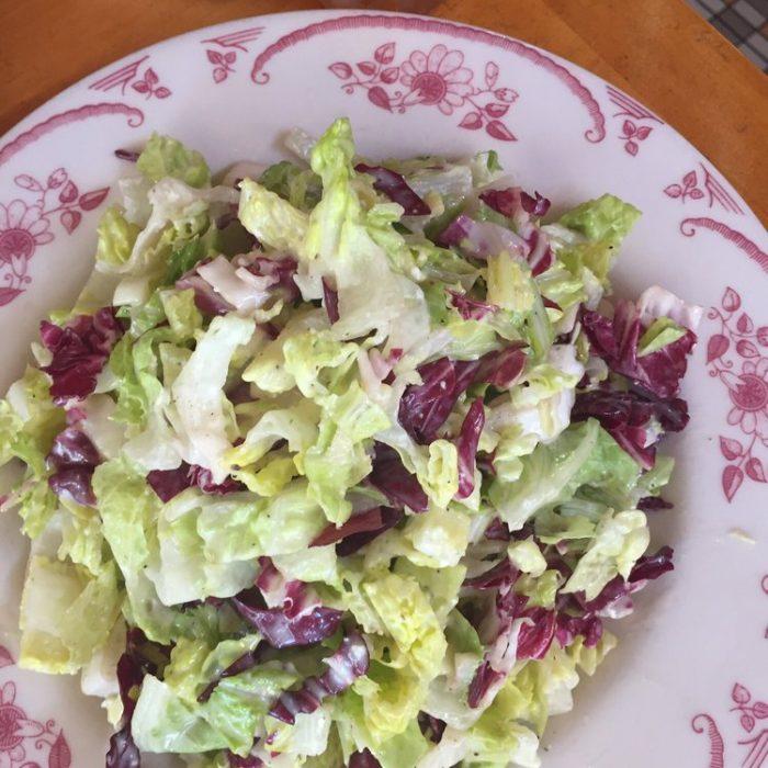 Chopped Salad with Gorgonzola Vinaigrette