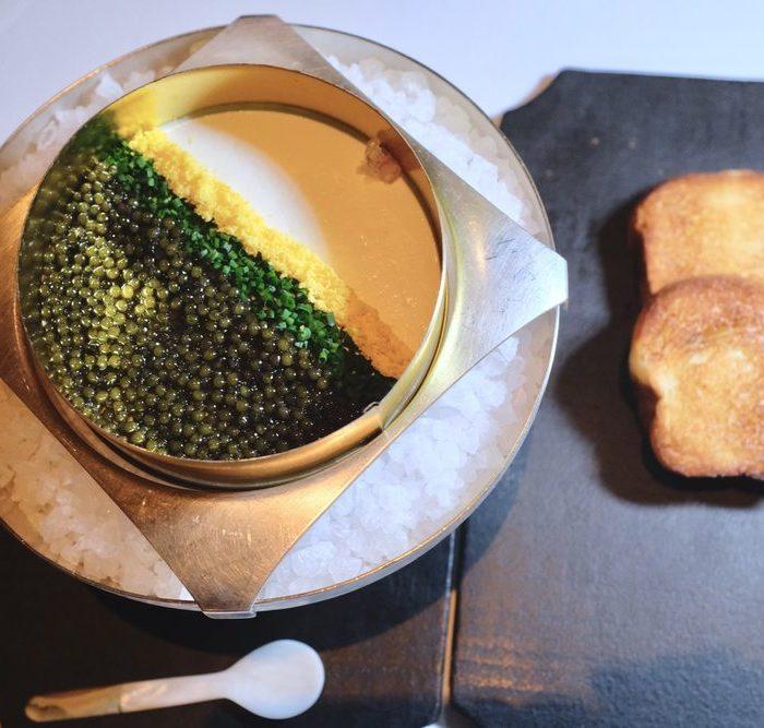 Golden Osetra Caviar Panna Cotta