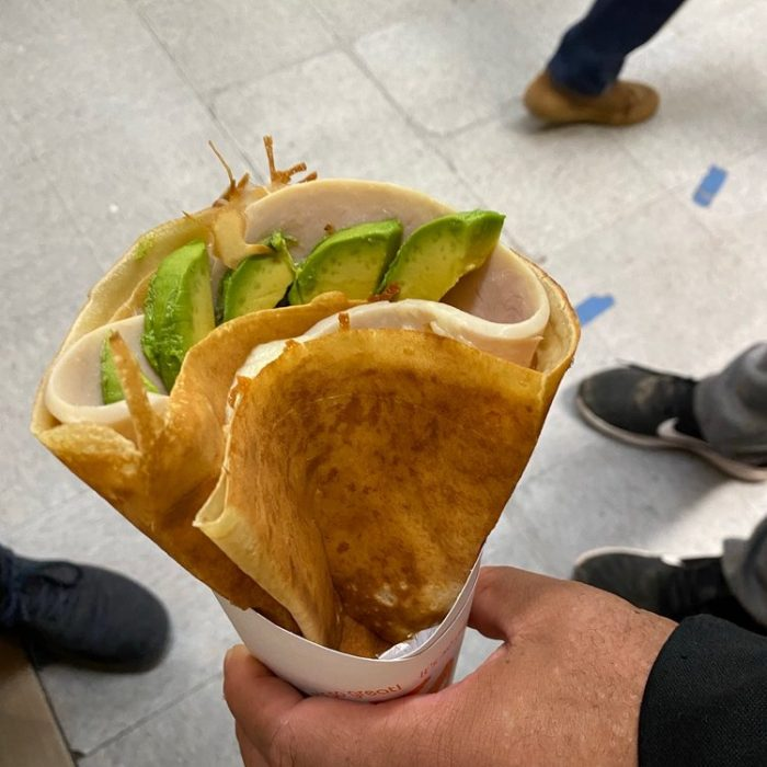 Turkey, Avocado, Jack Cheese and Sour Cream Crepe