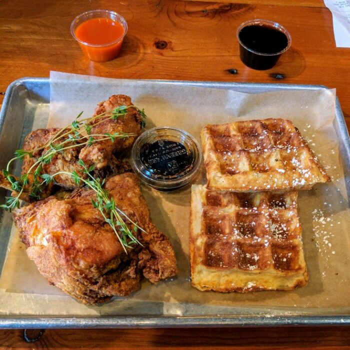 Chicken and Waffles Breakfast