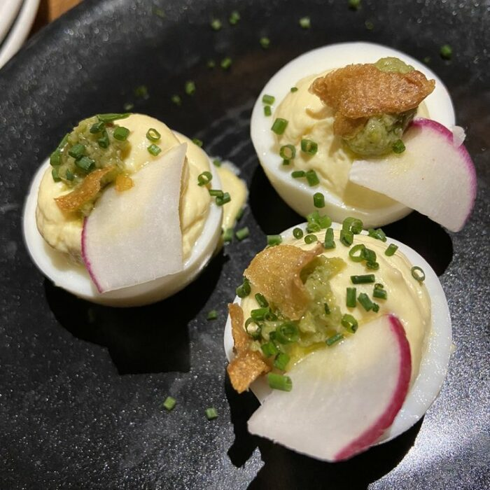 Smoked Trout Deviled Egg