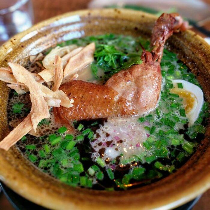 Soy Sauce Paitan with Chicken Leg